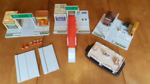 Vintage scale toy diorama set