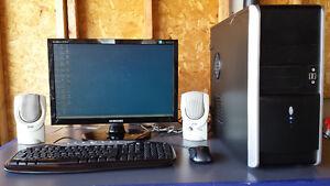 Computer, LCD Moniotr, Speaker, Keyboard & Mouse