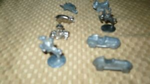 "VINTAGE ""8 ORIGINAL MONOPOLY GAME PIECES"" PEWTER Kitchener / Waterloo Kitchener Area image 2"