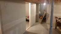 Drywall seam filling and painting