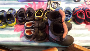 Boys size 5/ 6 toddler shoes, and sandels