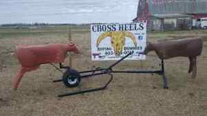 cross heels roping machine