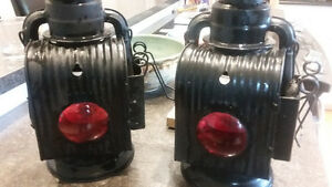 2 Dietz Wagon Lanterns