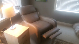 Reclining leather chairs from Costco.