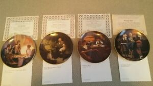 Norman Rockwell 'Light Campaign' limited edition plates