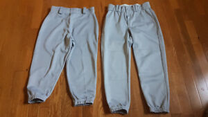 2 pair ball pants - size M and YL