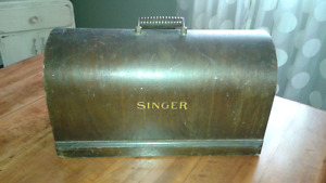 Antique Singer sewing machine cover