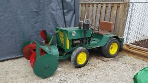 Small Tractor with snow blower