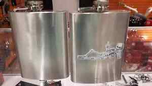 stainless steel whiskey flasks