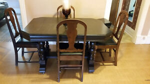 Solid Wood Antique Dining Room Table