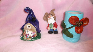 Handmade Clay Fairy House and Gnome London Ontario image 1
