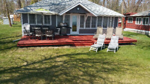 $500/week Lakefront cottage/cabin rent/rental at Wpg beach