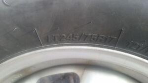 4 Firestone winter force LT tires on rims