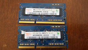 Laptop Parts (2*2 GB RAM, DVD ROM, Motherboard, WIFI and I3-350)