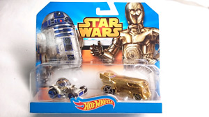 HOT WHEELS DIE CAST DISNEY STAR WARS BATTLE DAMAGED C3P0 & R2D2