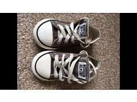 Infant size 7 grey converse