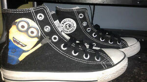 Minion Converse type shoes