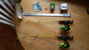 new ice fishing rods/auger and lures