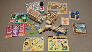 Melissa and Doug toys and puzzles