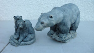 Polar Bear Carvings Large and Small $100 pair. Prince George British Columbia image 1