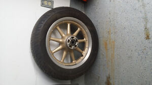 Front wheel tire and rotors