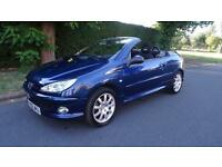 PEUGEOT 206 SPORT COUPE CABRIOLET - LADY OWNER 2006 Manual 67000 Petrol Blue