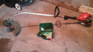 trimmer and seed spreader