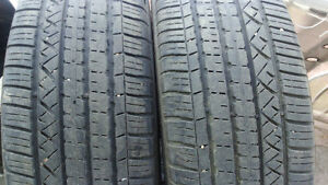 2 used SUV tires Dunlop 235/55R19 100$ both
