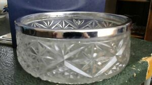 BEFORE 1950 9 INCH GLASS BOWL WEIGHS 3 POUNDS