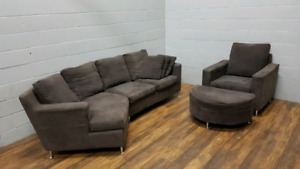 Free delivery: Cuddle Chaise Sectional + Chair Set