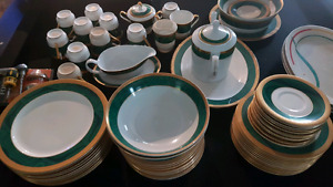 Gold plated ceramic dishes for sale