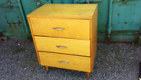 Vintage 3 Drawer Side Table/Chest Of Drawers