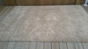 Taupe / beige shag area rug good condition