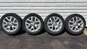 Nissan Rogue 225/55R18 tires and aluminum wheel with moitors