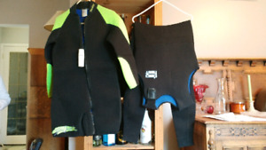 Wet suit with gloves and boots