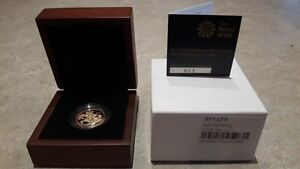 2014 UK Proof Gold Sovereign-First Strike