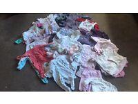 Large bundle of newborn/baby girls clothes