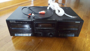 Kenwood KX-W1060 double cassette deck for sale/ à vendre