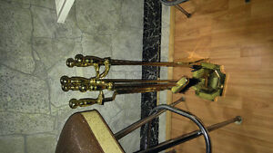 Brass fireplace tools
