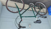 Adult green Raleigh bike 18 speed ( tall person)