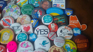 Collectible Pin-Back Buttons - Approximately 80 Kitchener / Waterloo Kitchener Area image 4