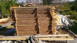 assorted bandsawn cedar lumber