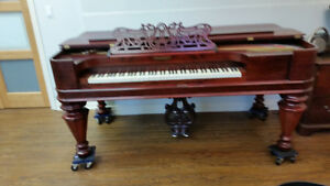 Chickering Bros Square Grand Piano, Circa 1857 - MINT Condition