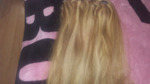 Full set Blonde Hair Extensions
