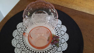 Depression glass 1930's