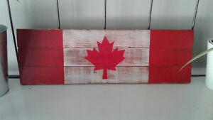 Handmade CANADA day sign