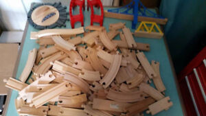 Large lot of Wooden Brio Train Track (compatible with Thomas)