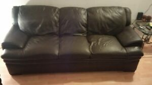brown leather couches