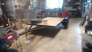 Heavy built flat bed utility trailer London Ontario image 1