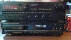 Denon receiver. .compact cd player and tape deck Kitchener / Waterloo Kitchener Area image 1
